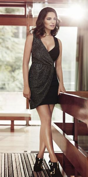 Kelly Brook modelling her latest collection for New Look