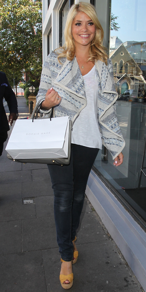 Celebrity Juice arrivals at riverside studios - Holly Willoughby - 4 September 2013