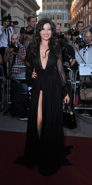 Daisy Lowe in a plunging dress