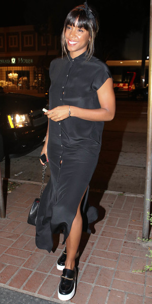 Kelly Rowland leaving the Madeo Restaurant in LA