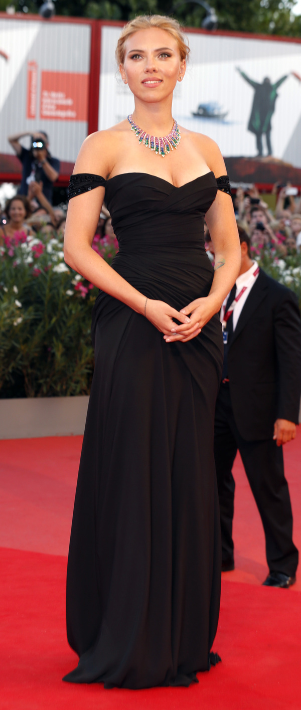 Scarlett Johansson on the red carpet at the Venice Film Festival - Italy, 3rd September 2013