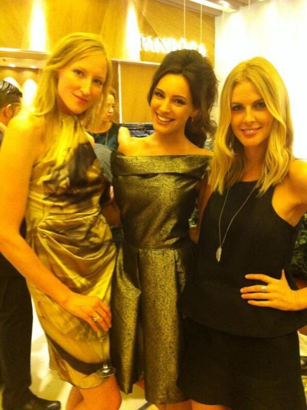 Twitter picture of Jade Parfitt, Kelly Brook, Donna Air at the Pandora launch party - London 5th September 2013
