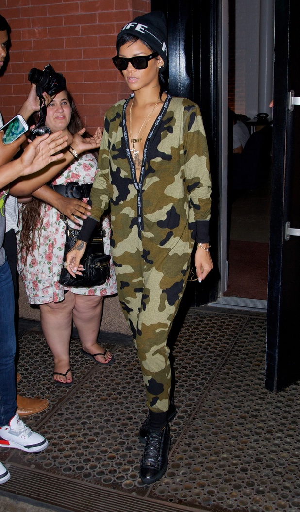 Rihanna wears her own collection for River Island