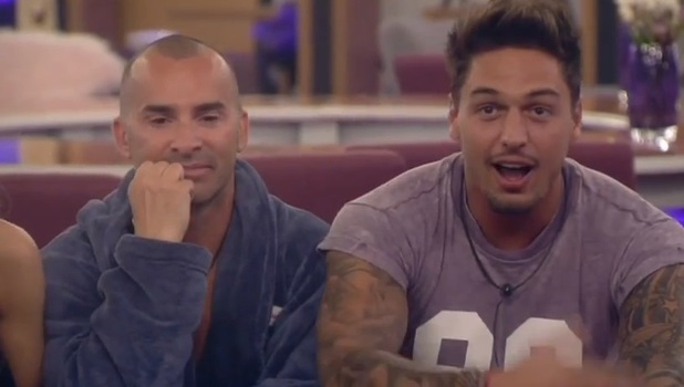 Louie Spence and Mario Falcone, Celebrity Big Brother screengrab, 7 September 2013