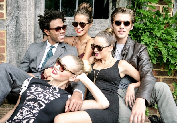 Hugo Taylor and Charlie Morris launch Taylor Morris eyewear collection - campaign features Hugo's girlfriend Natalie Joel