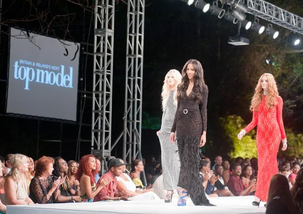 Lauren Lambert, Sarah Kennedy, Emma Ward on Britain & Ireland's Next Top Model 2013