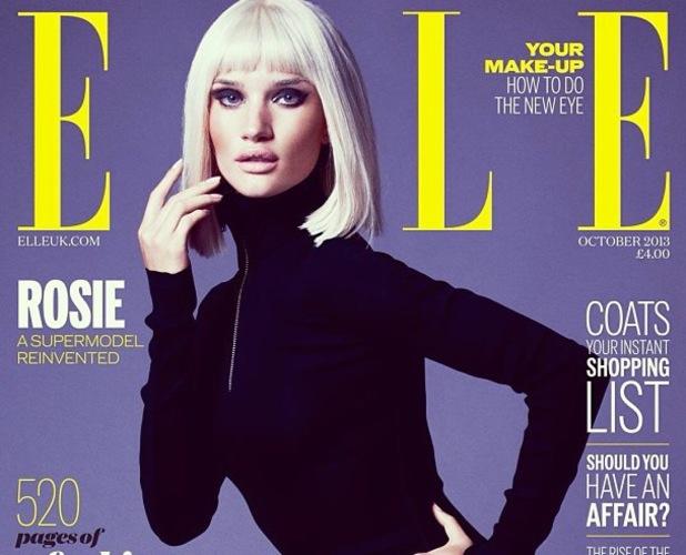 Rosie Huntington-Whiteley's shoot for Elle on 2 September 2013