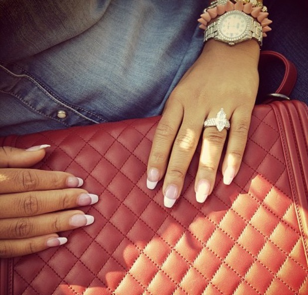 Christina Milian wearing supposed engagement ring from boyfriend Jas Prince - 2013