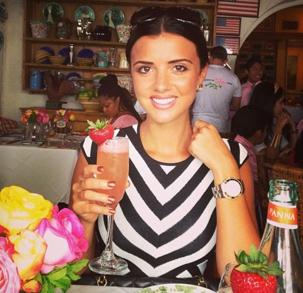 Lucy Mecklenburgh enjoys drinks in Los Angeles - 25 August 2013