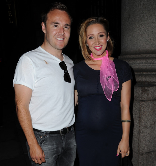 Alan Halsall, Lucy Jo Hudson: 'American Diner' themed ball, hosted by Simon Gregson and wife Emma, held at Palace Hotel - Departures - 15 June 2013