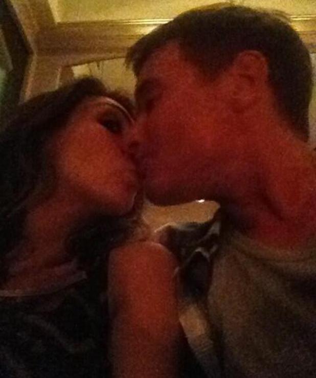 Luisa Zissman pretends to kiss Greg James - 4 September 2013