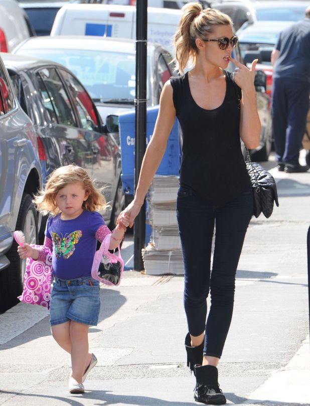 Abbey Clancy out and about with daughter Sophia in London, Britain - 05 Sep 2013