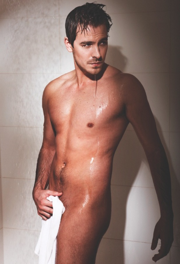 'Ashley Taylor Dawson posed for Cosmopolitan to raise awareness of male cancer. Cosmopolitan's centrefolds support Cancer Research UK'.