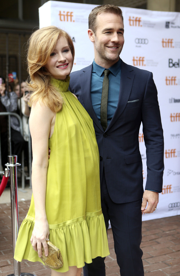 'Labor Day' film premiere at the Toronto International Film Festival, Canada - 07 Sep 2013 James Van Der Beek and his wife Kimberly