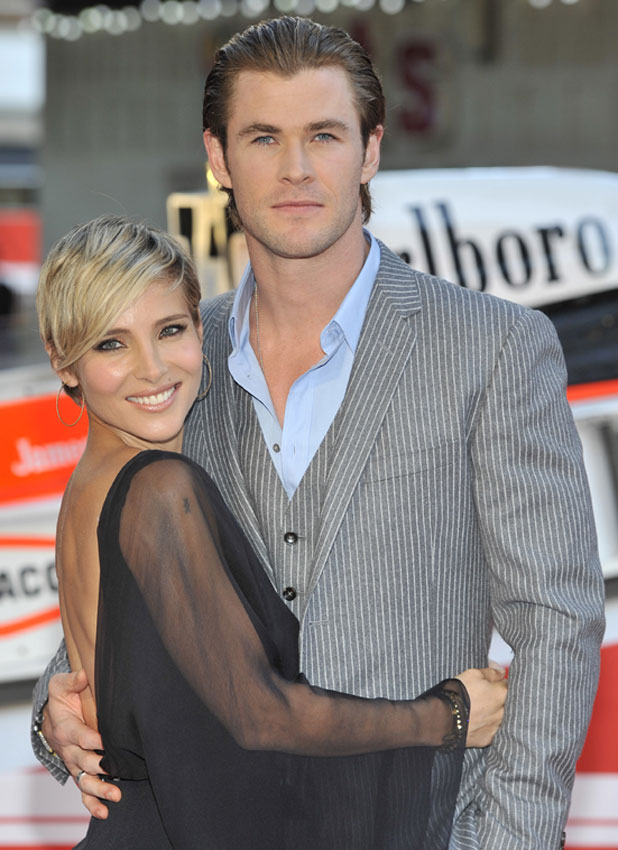 Chris Hemsworth and wife Elsa Pataky at the world premiere of Rush held at the Odeon Leicester Square- Arrivals, 2 September 2013