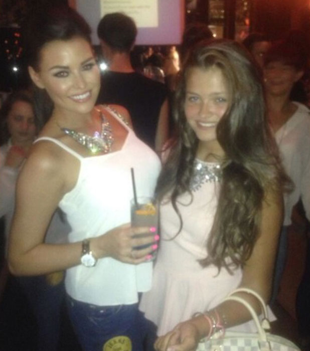 Jessica and Natalya Wright, Jeans for Genes 2013 party at the Jewel Bar, 3 September 2013