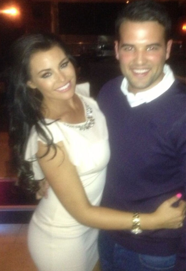 Jessica Wright and Ricky Rayment celebrate Ricky's birthday in Norwich, 31 August 2013