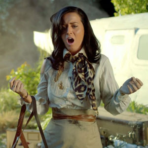 Katy Perry in her Roar music video, September 2013