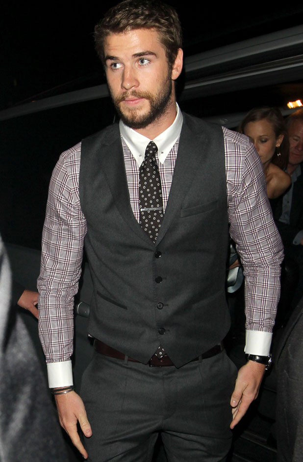 Liam Hemsworth, 'Rush' film premiere after party, London, Britain - 02 Sep 2013