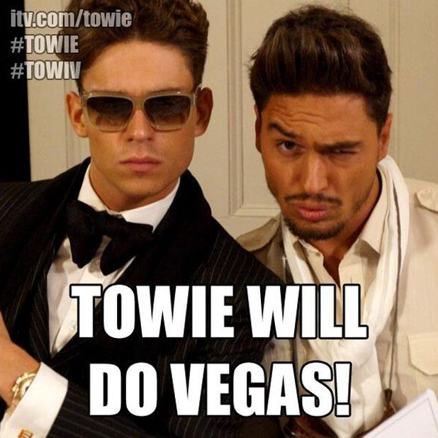 The Only Way Is Essex In Vegas tweet, 5 September 2013.