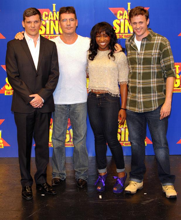 Simon Cowell, Nigel Harman, Cynthia Ervio, Alan Morrisey at the X Factor musical press launch 2013