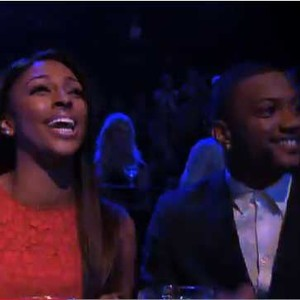 Alexandra Burke and JB Gill in the audience on Stepping Out