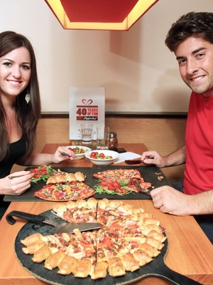 Arg and Rebecca Greenow on a Pizza Hut date, September 2013
