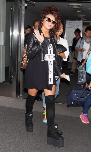 Little Mix at Narita International airport, Chiba pref, Japan - 11 Sep 2013 Jesy Nelson