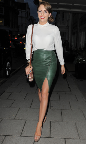 Long green leather skirt – Modern skirts blog for you