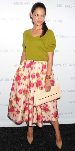 Katie Holmes at Michael Kors show, Spring Summer 2014, Mercedes-Benz Fashion Week, New York, America - 11 Sep 2013