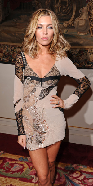Abbey Clancy attends the Julien Macdonald show, Spring Summer 2014, London Fashion Week - 14 Sep 2013