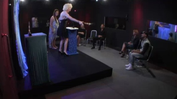 Lauren Harries throws her award on Celebrity Big Brother - 13 September 2013