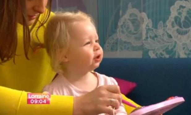 Michelle Heaton on ITV1's Lorraine - 12 September 2013