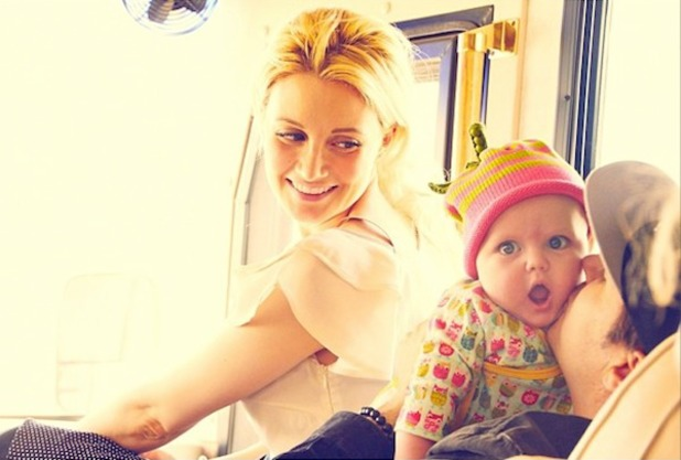Holly Madison, Pasquale Rotella and daughter Rainbow - September 2013