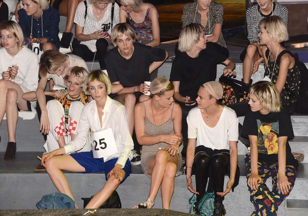 Marc Jacobs show, Spring Summer 2014, Mercedes-Benz Fashion Week, New York, America - 12 Sep 2013 Cara Delevingn