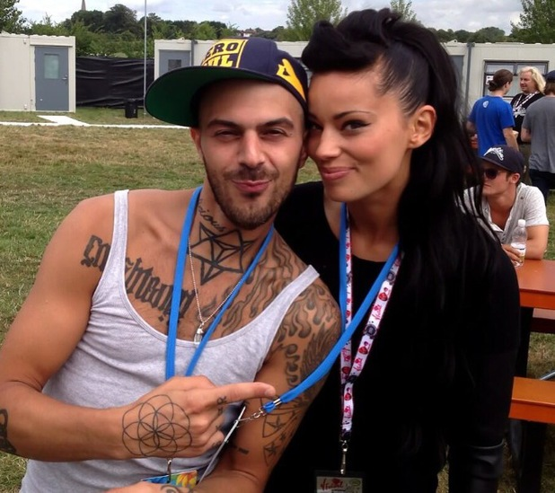 5ive's Abz Love and his girlfriend Vicky Fallon at V Festival together - Essex - August 2013