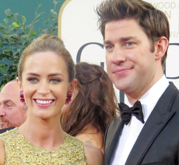 Emily Blunt and John Krasinski at 70th Annual Golden Globe Awards held at The Beverly Hilton Hotel Beverly Hills, California. 13 January 2013