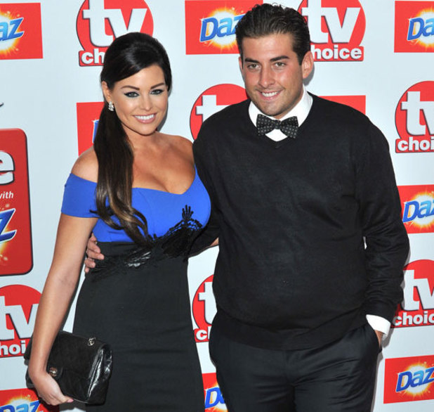 Jessica Wright and Arg, The TV Choice Awards 2013 held at the Dorchester - Arrivals, 9 September 2013