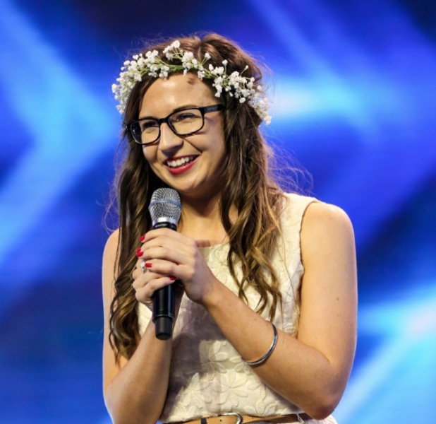 Abi Alton performs on the X Factor, 11 September 2013