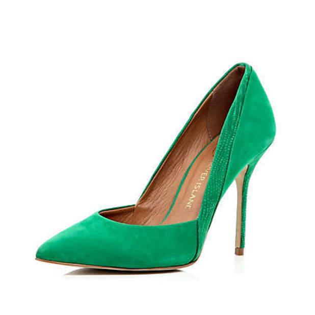 Green heels, £50, River Island