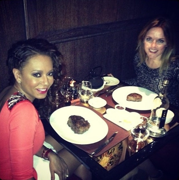 Mel B and Geri Halliwell have dinner in the UK - 7 September 2013