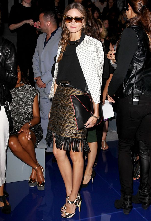 Olivia Palermo - Vera Wang Show, Spring Summer 2014, Mercedes-Benz Fashion Week, New York, America - 10 Sep 2013