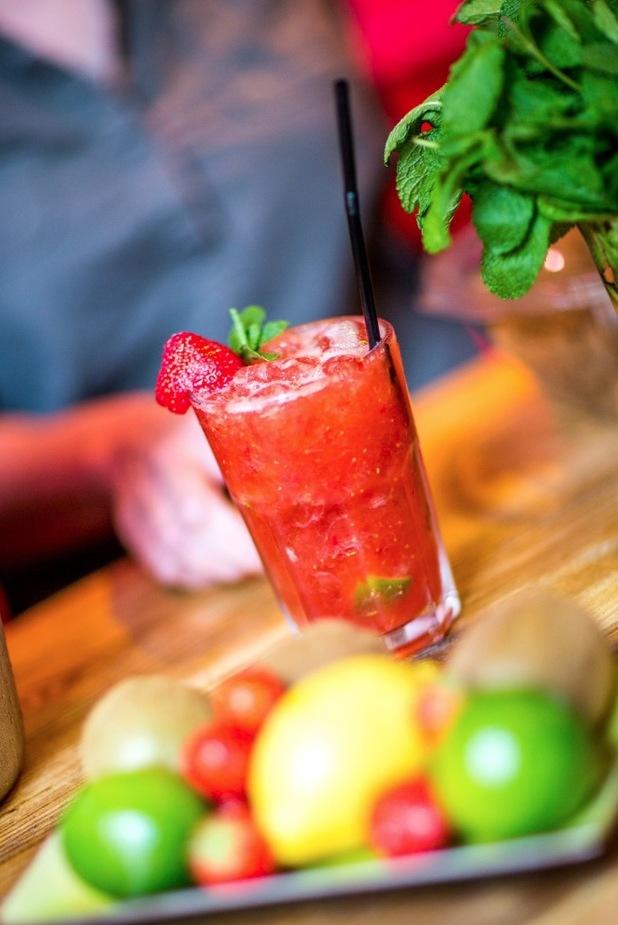 Exotic Christmas cocktail recipe: Strawberry Caipirinha ...