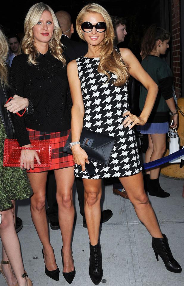 Paris Hilton and Nicky Hilton at New York Fashion Week 9 Sep 2013