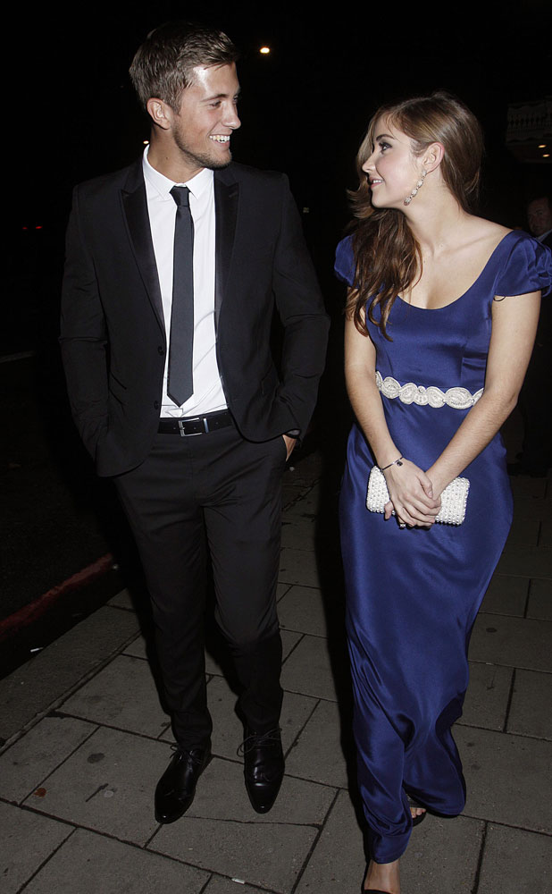 TV Choice Awards departures, London, Britain - 09 Sep 2013 Dan Osborne and Jacqueline Jossa