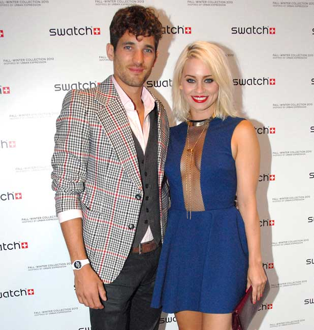 Kimberly Wyatt with Husband Max Rogers