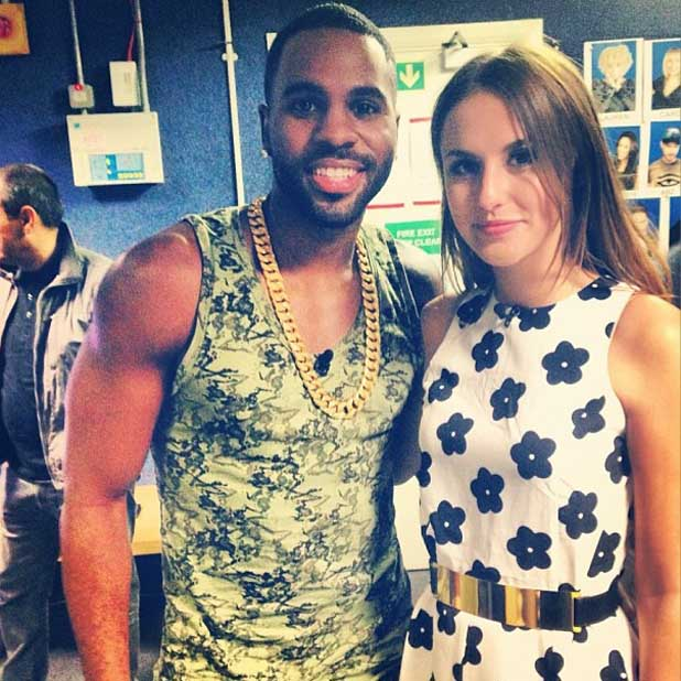 Made In Chelsea's Lucy Watson hanging out backstage with Jason Derulo