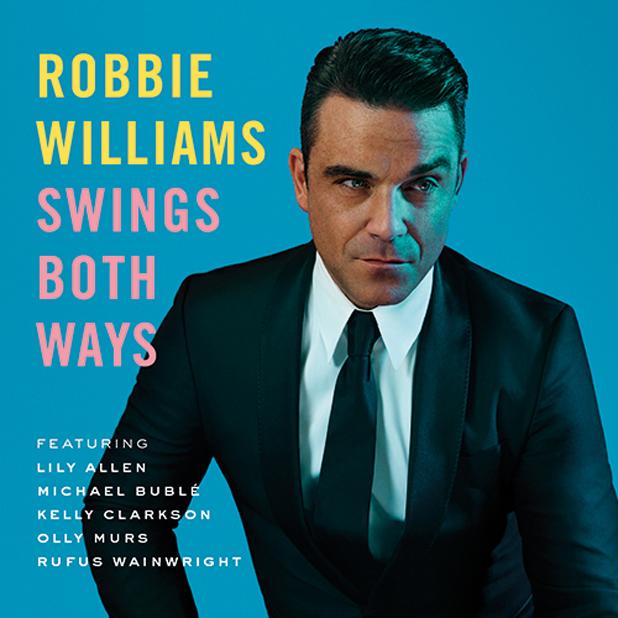 Robbie Williams artwork for new album, Swings Both Ways.