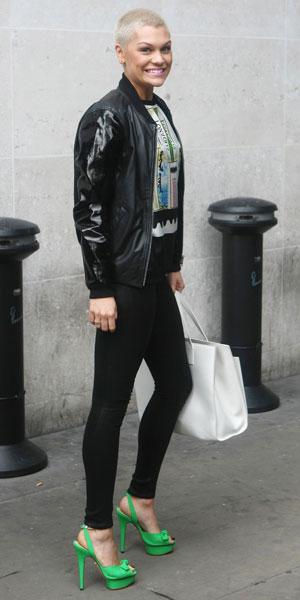 Jessie J arriving at BBC Radio 1 studios 21/06/13
