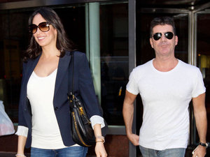 Simon Cowell and Lauren Silverman out and about in New York, America - 19 Sep 2013